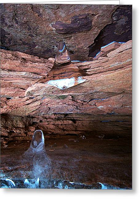 Natures Artistry - Apostle Island Sea Caves - February 2014  Greeting Card by Carol Toepke
