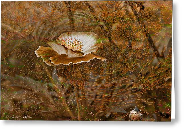 Greeting Card featuring the digital art Nature's Artistry At Work by J Larry Walker