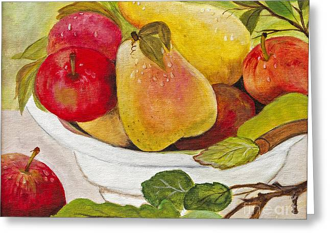 Natures Bounty By Lucia Van Hemert Greeting Card