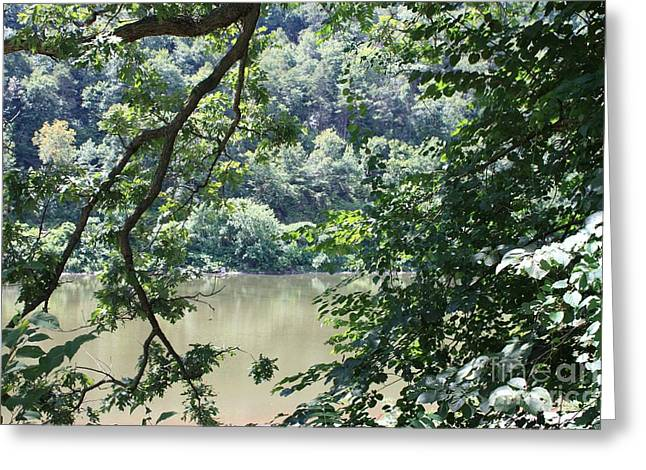 Nature's Frame Of The Delaware Water Gap Greeting Card by John Telfer