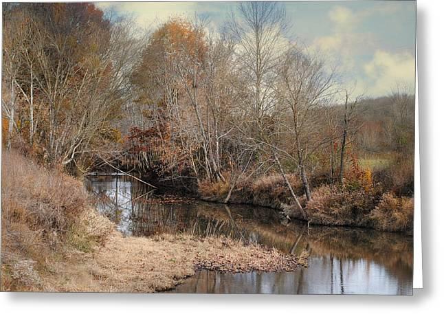 Nature's Glory - Autumn Stream Greeting Card by Jai Johnson