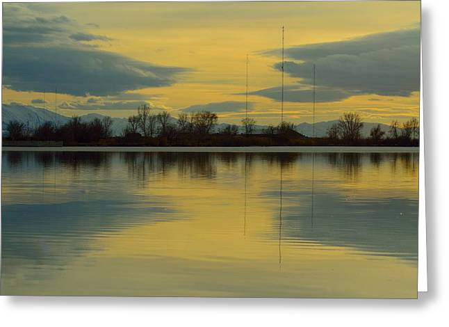 Natures Mirror Greeting Card by Robert Reese
