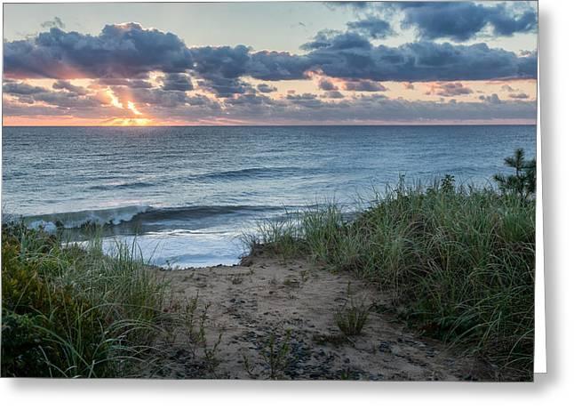 Nauset Light Beach Sunrise Greeting Card