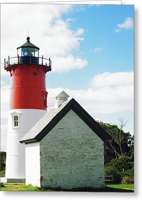 Nauset Lighthouse, Nauset Beach Greeting Card by Panoramic Images