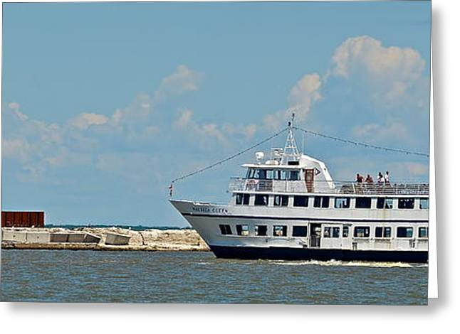 Nautica Queen In Lake Erie Harbor Greeting Card