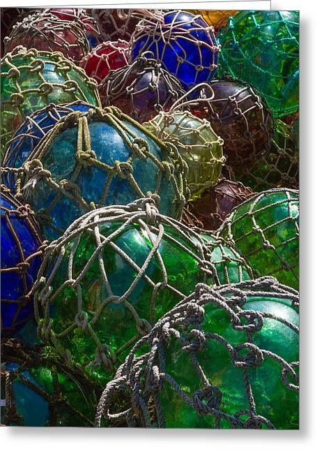 Nautical Art - Glass Fishing Net Floats Greeting Card