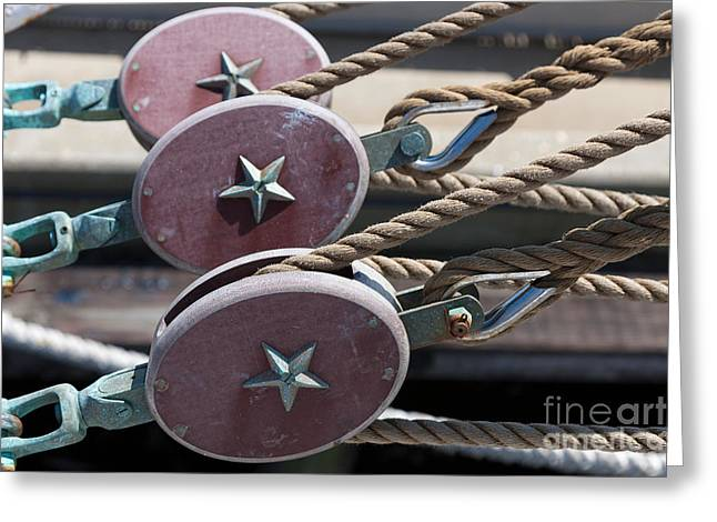 Nautical Blocks I Greeting Card by Clarence Holmes