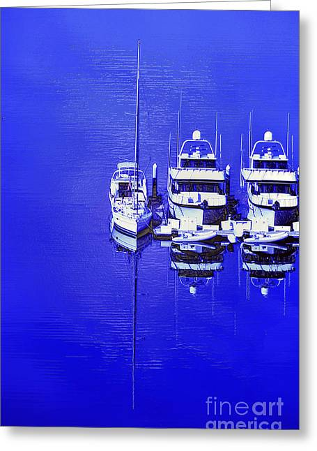 Nautical Reflections Greeting Card by MaryJane Armstrong