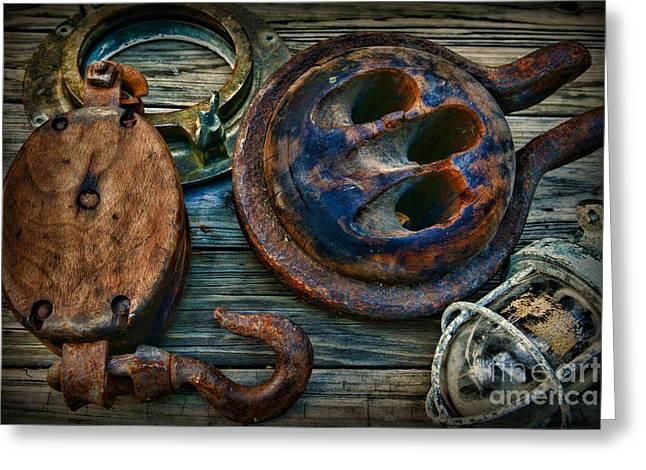 Nautical - Sailing Essentials Greeting Card by Paul Ward