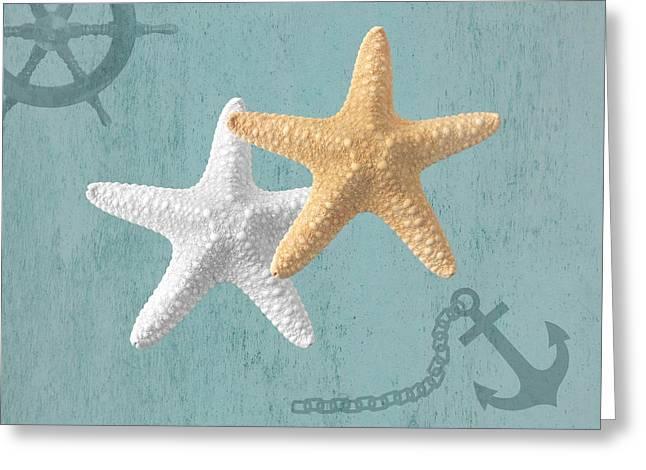 Nautical Stars Greeting Card by Gill Billington