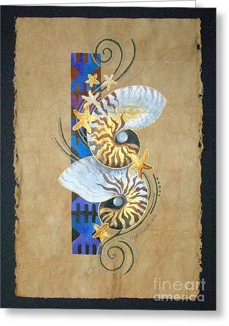 Nautilus And Blue Masi Greeting Card