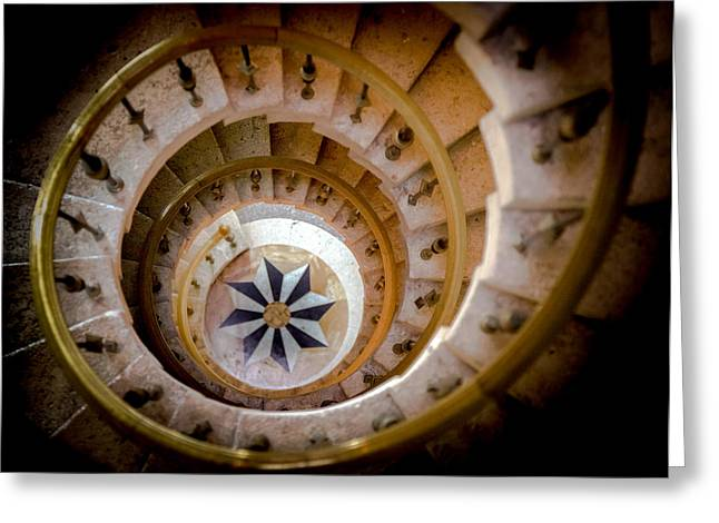 Nautilus Shell Staircase Greeting Card by Karen Wiles