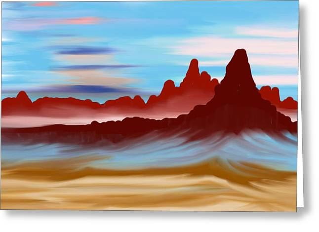 Navajo Greeting Card by Brian Johnson