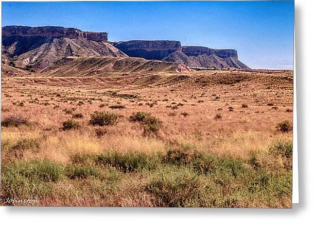 Navajo Nation Series Along 87 And 15 Greeting Card by Bob and Nadine Johnston
