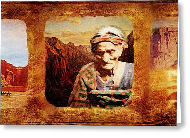 Navajo Triptych  Greeting Card