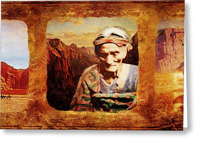 Navajo Triptych  Greeting Card