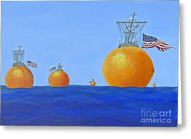Naval Oranges Greeting Card