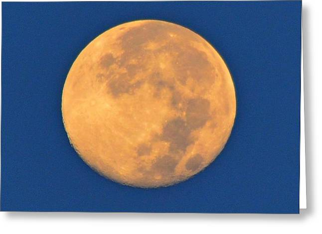 Greeting Card featuring the photograph Navarre Beach Full Moon At Sunrise by Jeff at JSJ Photography