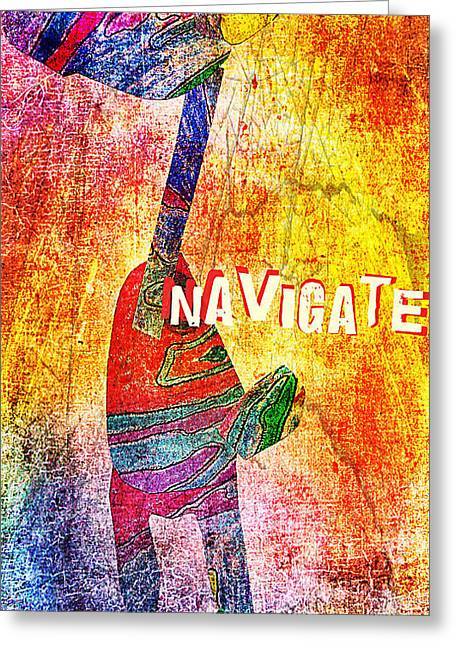 Navigate Greeting Card by Currie Silver