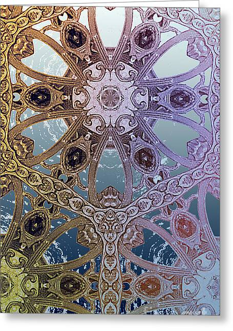 Antique Ironwork Digital Art Greeting Cards - Navigating Air and Sea Greeting Card by CR Leyland