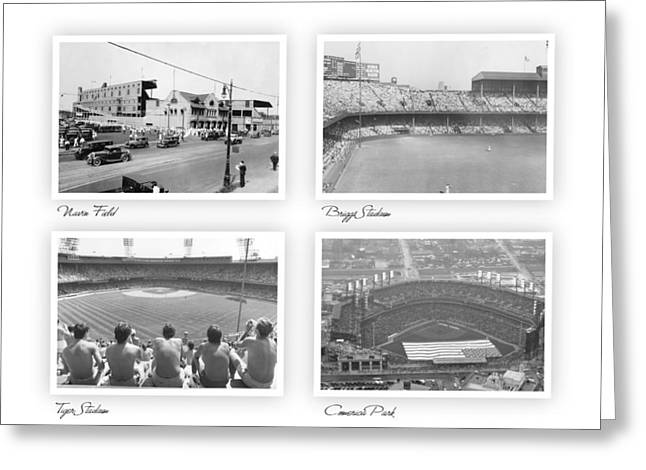 Navin Field Briggs Tiger Stadium Comerica Park Greeting Card by John Farr