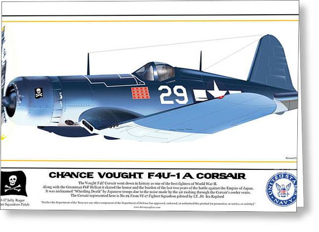 Navy Corsair 29 Greeting Card by Kenneth De Tore