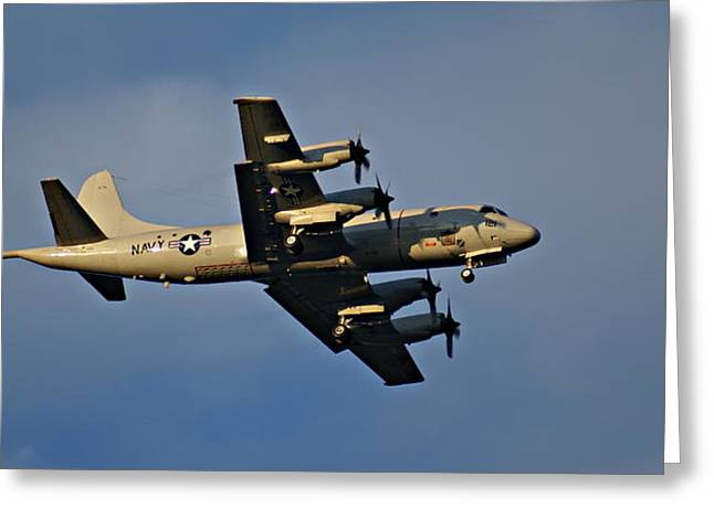Navy P-3 Orion Turbo Prop Greeting Card