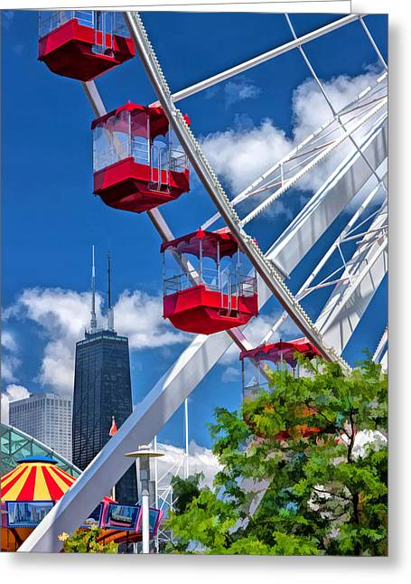 Navy Pier Ferris Wheel Greeting Card
