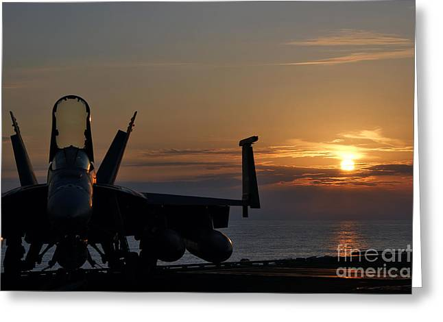 Greeting Card featuring the photograph Navy Super Hornet by John Swartz