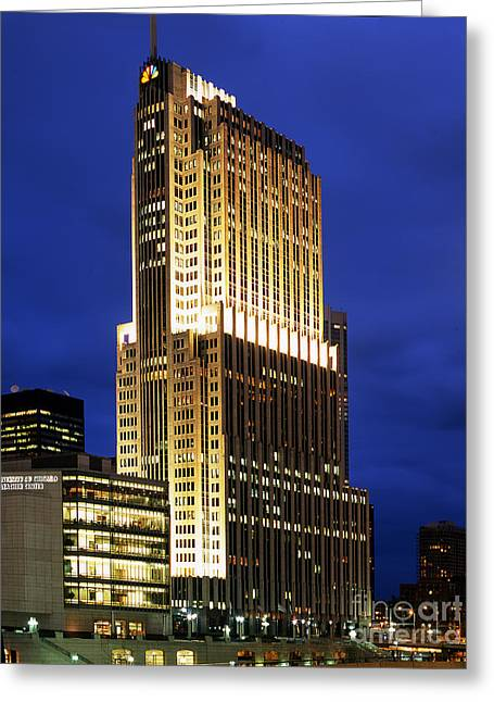 Nbc Tower Building Greeting Card