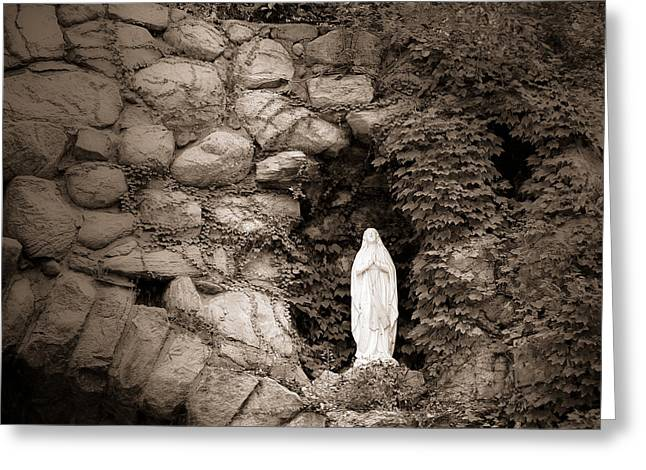 Nd Grotto Virgin Mary Greeting Card