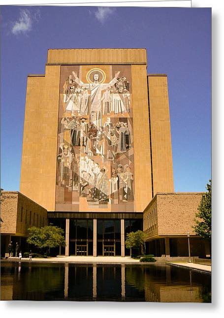 Nd Touchdown Jesus Greeting Card