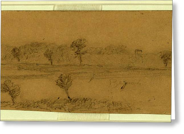 Near Butlers Right On James River, 1863-1865, Drawing Greeting Card