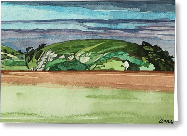 Near Dervaig, 2000 Wc On Paper Greeting Card