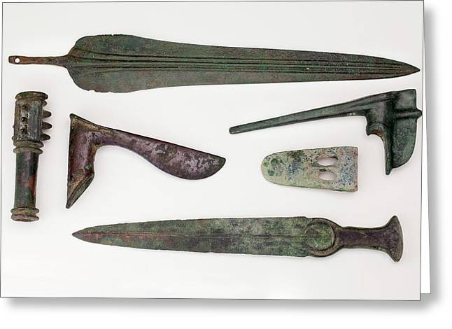 Near East Bronze Age Weapons Greeting Card