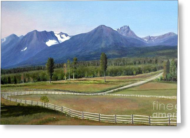 Near Smithers Bc Greeting Card