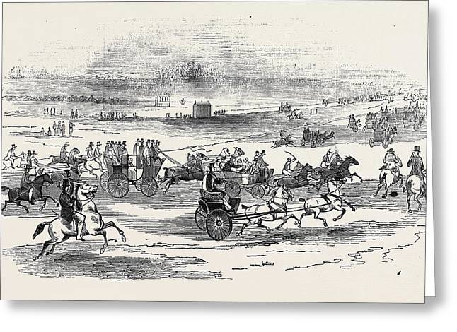 Near The Course, Newmarket Greeting Card by English School