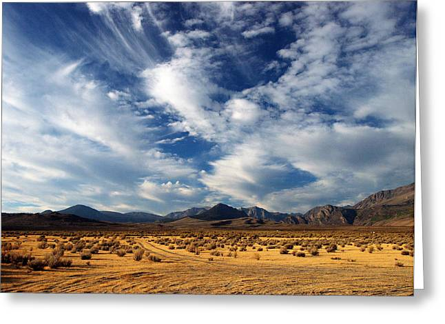 Near The Intersection Of God And The Eastern Sierras Greeting Card by Joe Schofield