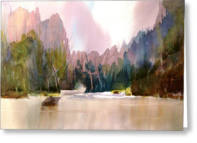 Near Yosemite Greeting Card