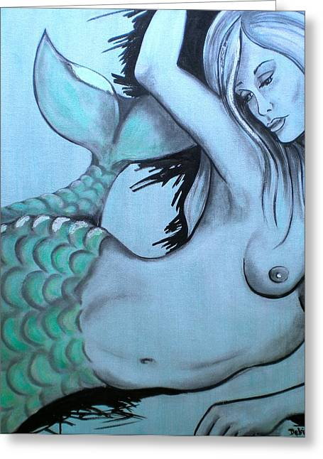 Nearly Naked Sea Pearl Green Greeting Card