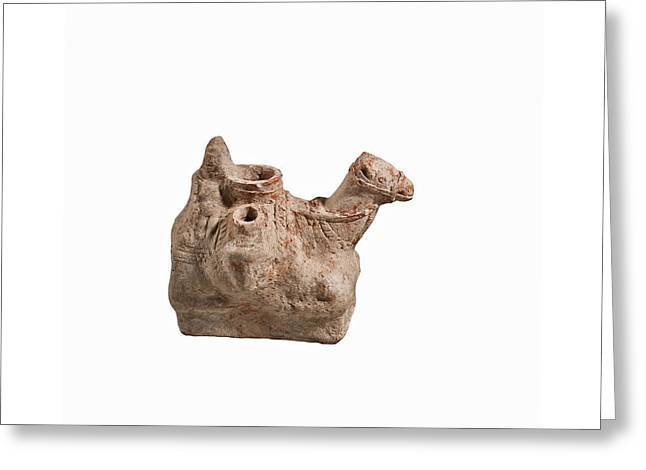 Nebatean Terracotta Vessel Greeting Card by Science Photo Library
