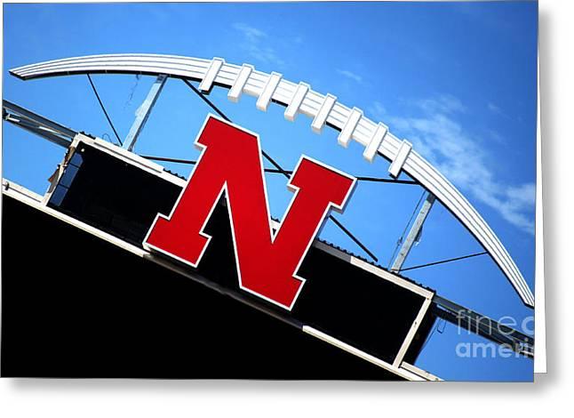 Nebraska Husker Memorial Stadium Greeting Card