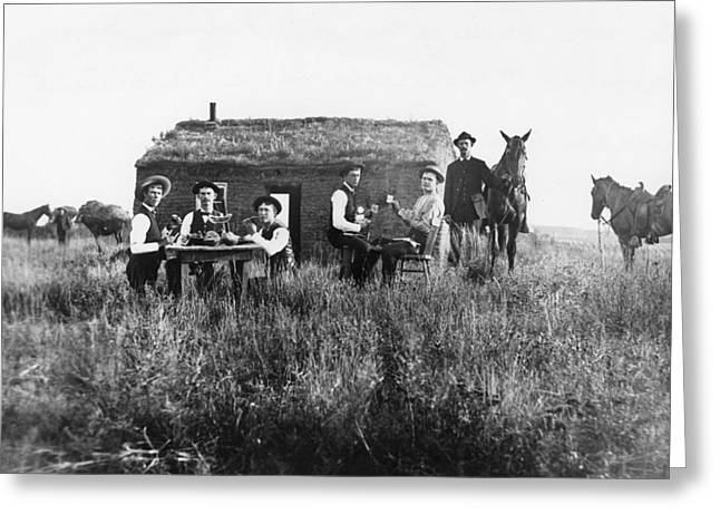 Nebraska Settlers, 1886 Greeting Card by Granger