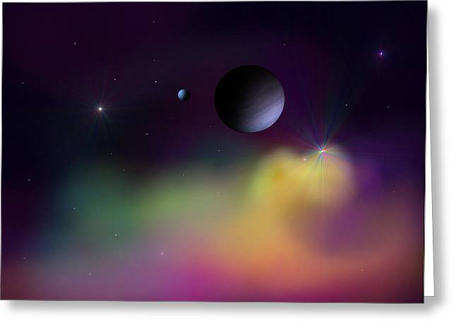 Nebula 2 Greeting Card by Ricky Haug