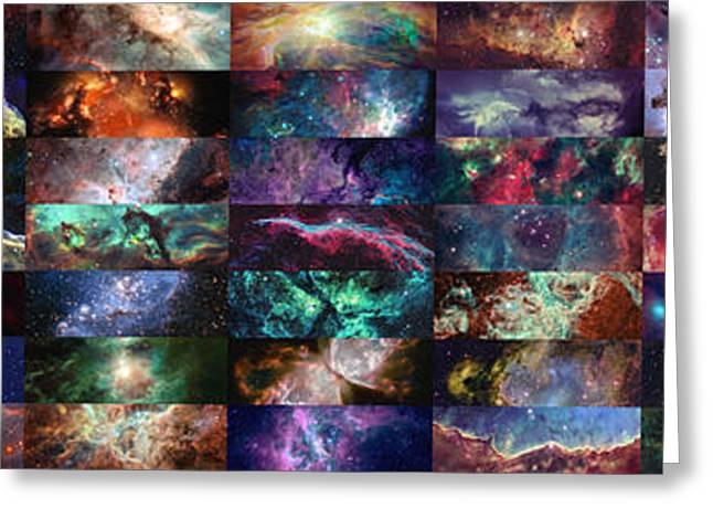 Nebula Collage  Greeting Card by Taylan Apukovska