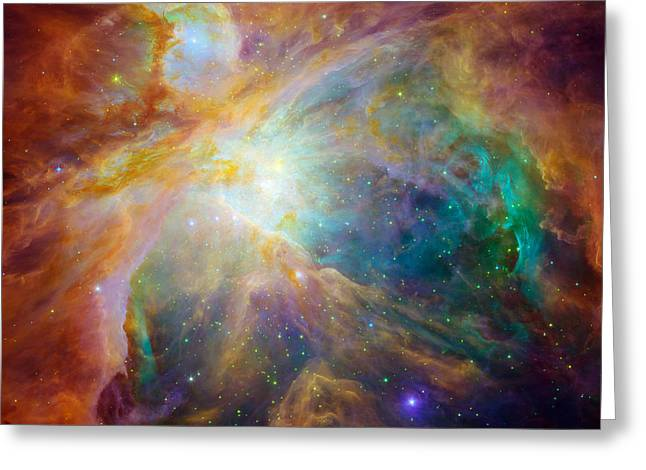Chaos At The Heart Of Orion Greeting Card by Nasa