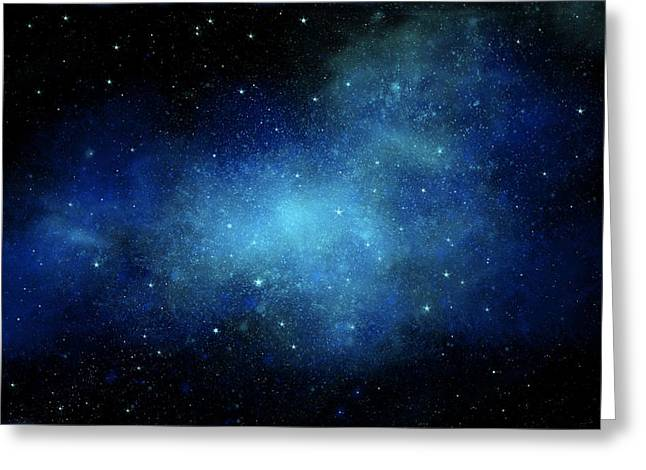 Nebula Mural Greeting Card by Frank Wilson
