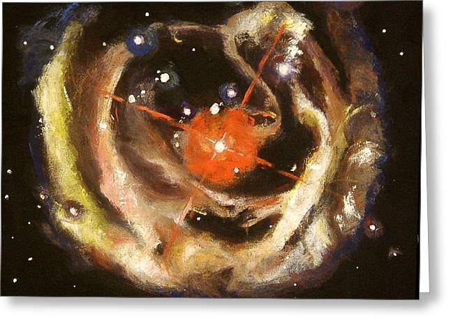Nebula Greeting Card by Sheila Diemert