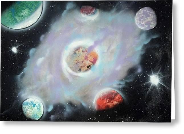 Nebula Greeting Card by Troy Woolley