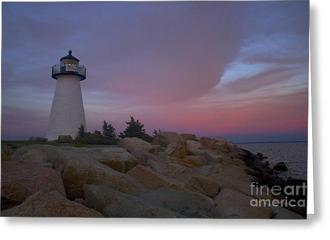 Ned's Point At Sunset Greeting Card by Amazing Jules